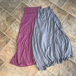 TWO!! Lularoe Maxi!  Stretchy modal fabric!